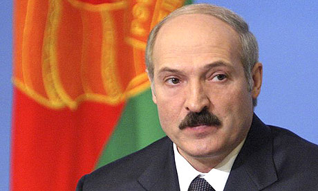 The president of Belarus, Alexander Lukashenko who believes late Poland President Lech Kaczynski is to blame for the crash.
