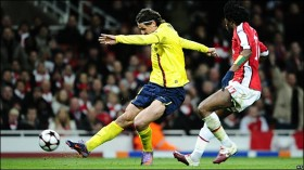 Ibrahimovic scoring second goal of the night - photo by: AP