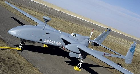 The Heron model Unmanned stealth military plane which Turkey purchased 10 from Israel for an alleged $183 million