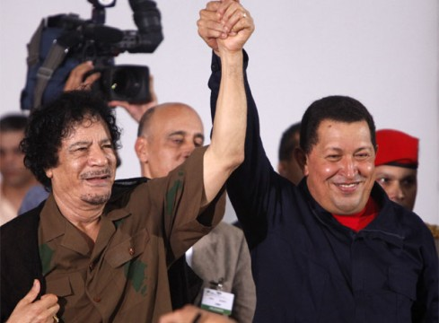 Gaddafi and Hugo Chavez, death did them part ..