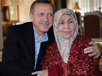 Turkey's Pm Erdogan with his mother Tenzile Erdoğan