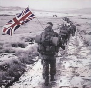 The Falklands War between Argentina and Britain