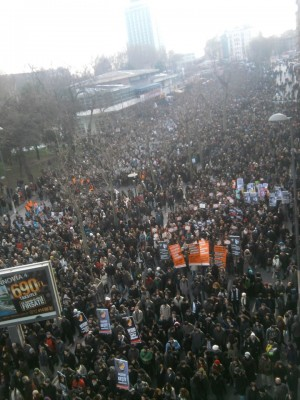 Tens of tousands march in Istanbul for Hrant Dink, for Justice