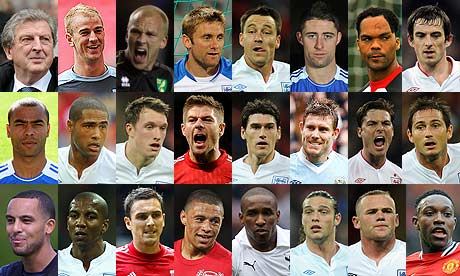 Meet the England squad for Euro 2012