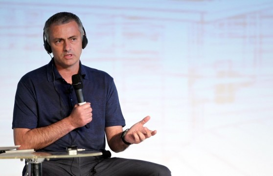 Jose Mourinho speaks at the conference on Leadership