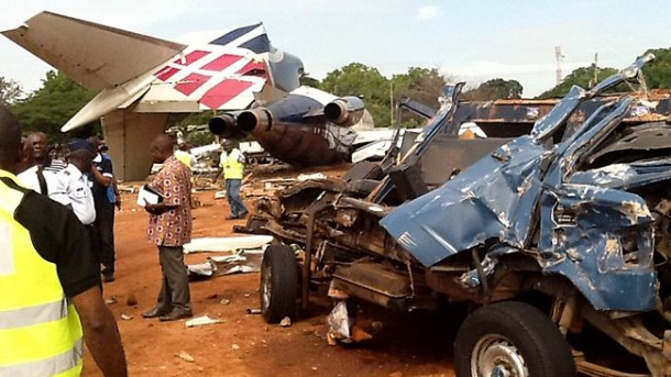 The Allied Air cargo plane crash resulted in the death of 10 persons on board a 207 Benz bus