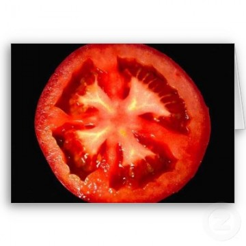 Tomatoes are Christian, basis : sliced tomato reveals cross ?