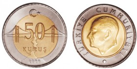 Turkey's first coin without Atatürk 's visage on it put in use