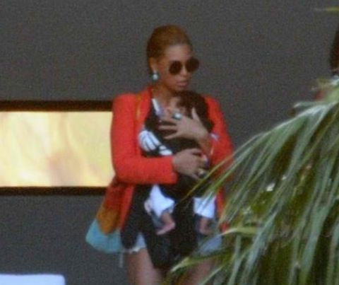Baby Blue Ivy Carter & her famous mom Beyonce