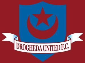 Irish club Drogheda Unt. with its emblem with Turkish symbols the star and crescent