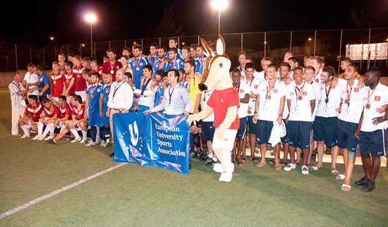 Football scholar, academician and coach Müslüm Gülhan has led Istanbul's Halic University football team to another championship at the 1st European Universities Games in Cordoba, Spain.