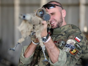 Poland's basketball star Marcin Gortat visits Polish military in Afghanistan