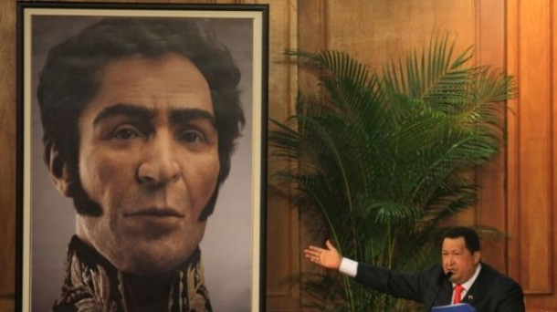 President Hugo Chavez reconstructed 3-D face of Simon Bolivar