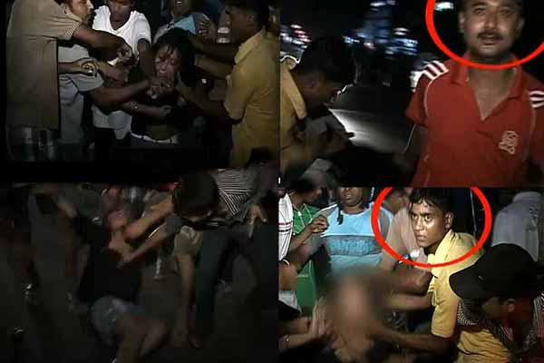 Indian girl molested and beaten by Indian mob of men in Guawahati, India