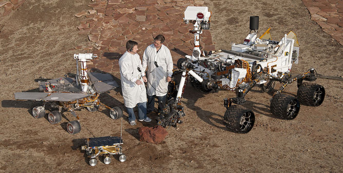 The three types of rovers that NASA has landed on Mars
