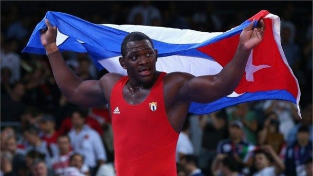 Cuban Wrestler Mijain Lopez defeats Turk and Estonian rivals to reach gold at London Olympics