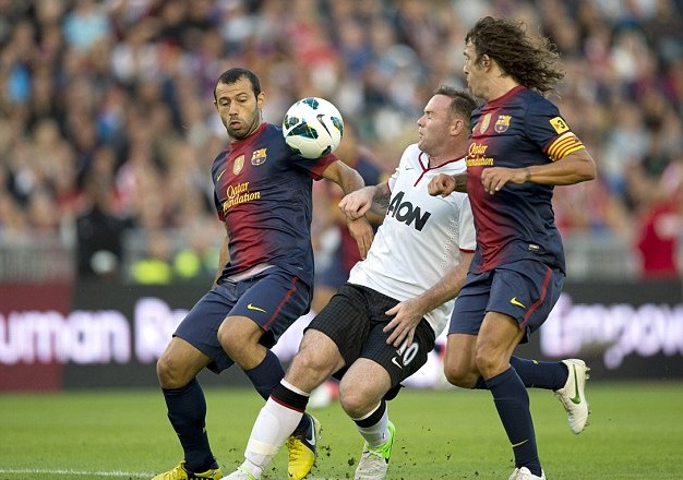 Manchester United vs Barcelona 2012 / Manchester lose the battle for Lucas Moura and vs Barca
