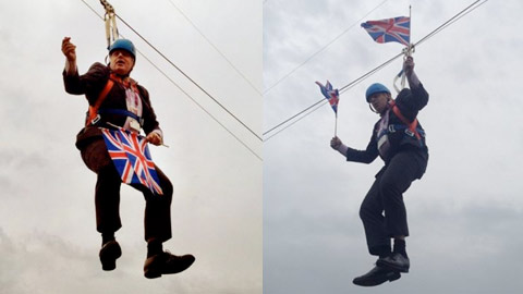 Hanging Boris Johnson / London Olympic Games 2012