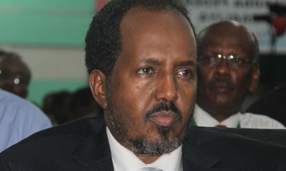 Though day at the first day of office, newly elected Somalia president Mohamud escapes assasination bid