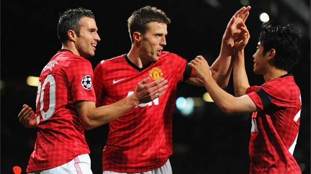 Manchester United 1 Galatasaray-0 Michael Carrick Goal