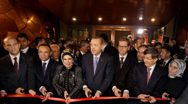 Erdogan and his lovely wife Emina Hanim at the opening of Turkish Consulate in Berlin 
