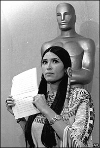 Sacheen Littlefeather, denying the Oscar statue on behalf of Marlon Brando in 1973: USA unfortunately never learns from its mistakes