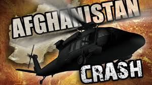 US helicopter crashed in Afghanistan.