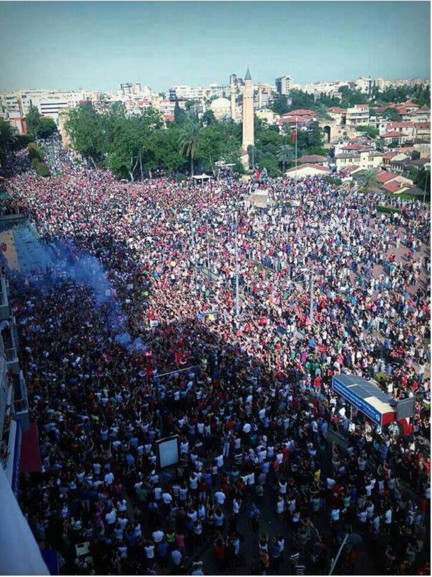 There is Antalya unrest Turkey