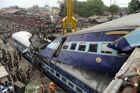 File picture of train mishap in India.