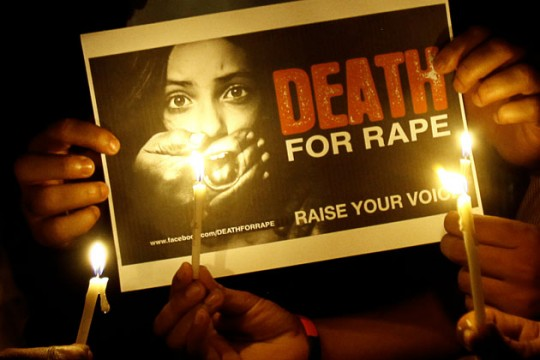 Protest demanding death for rapists in India. File Pic