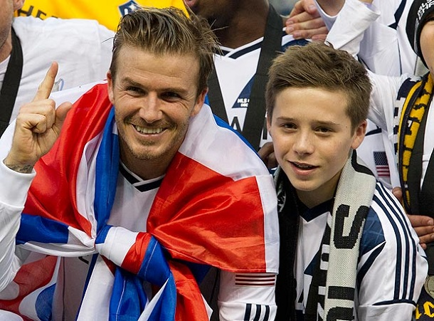 Beckham Dynasty:Son of David Beckham Brooklyn completed ...