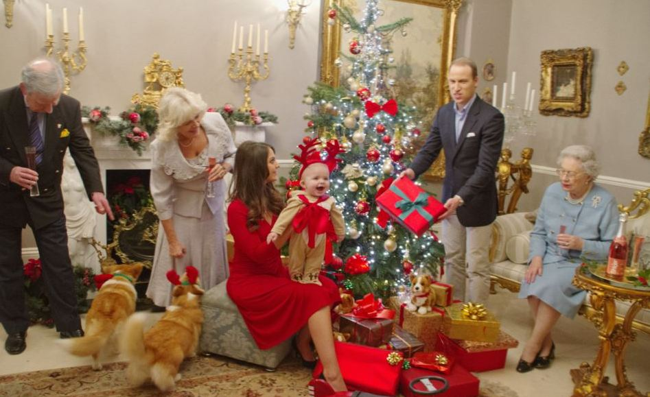 prince george celebrates his first christmas with his family he is photographed by alison jackson with his reindeer costume