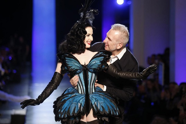 Paris-Fashion-Week-Dita-Von-Teese-Gaultier