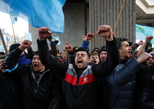 Naturaly Crimean Tatars hates Russians during hundreds years