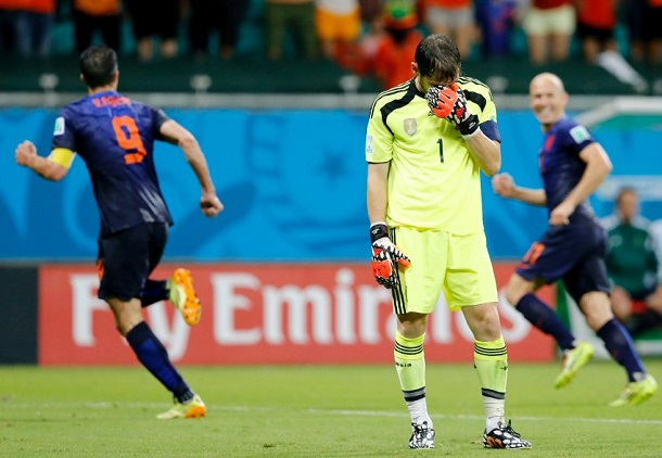 Spain 1 Netherlands 5 Group B Match:The Flying Dutchman ...