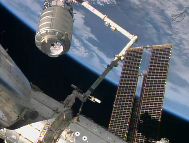 Orbital's cargo ship arrives at space station