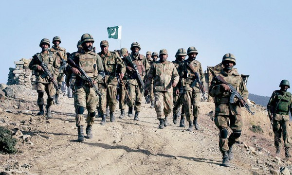 Pakistan soldiers during ongoing military operation in North Waziristan. File Pic