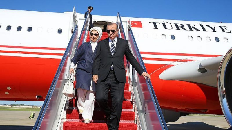 President Erdogan Arrives In Washington To Meet Trump