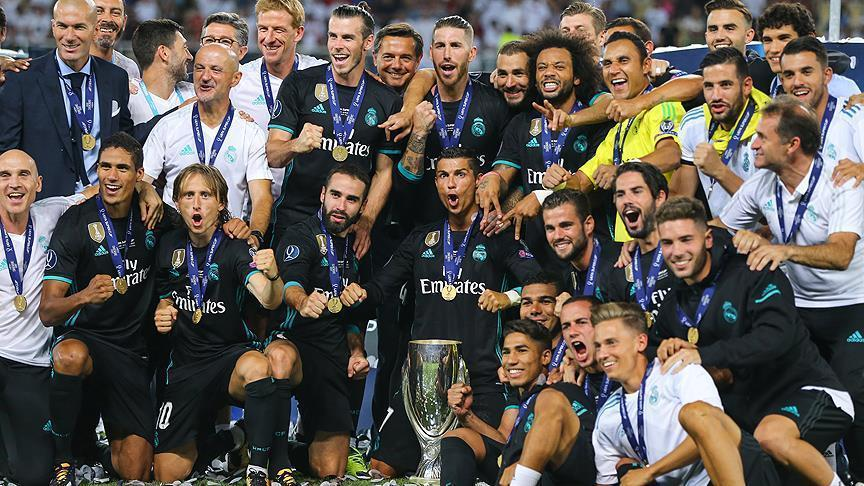 Real Madrid edges ManU for Super Cup title