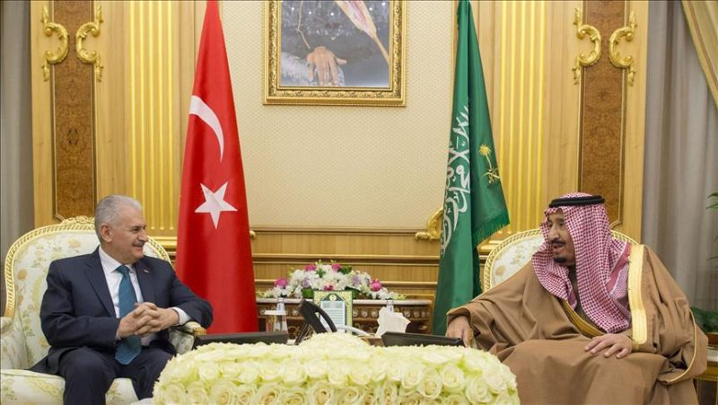 Yildirim, King Salman discuss Al-Quds behind closed doors