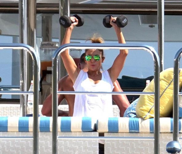 Jennifer Lopez is summer chic in white lace sun dress as she enjoys yachting holiday in Capri with beau Alex Rodriguez