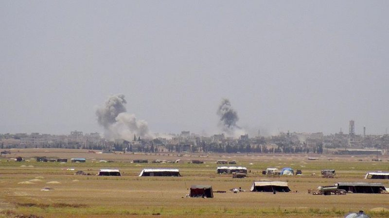 Russian fighter jets hit targets in Syria's Idlib