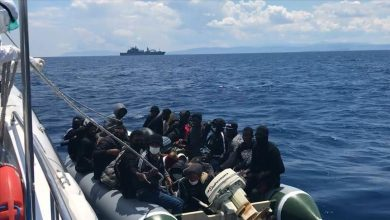 Photo of Turkish coast guards rescue asylum seekers in Aegean
