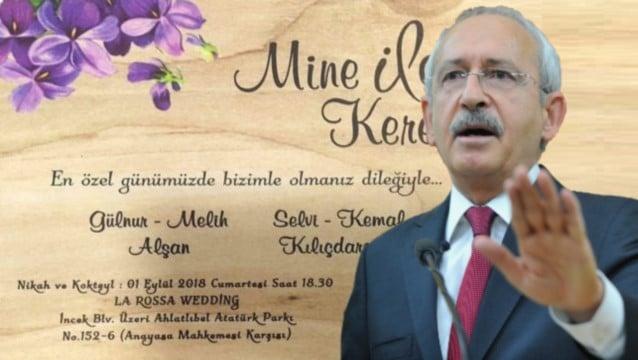 Kılıçdaroğlu 5 Yıldızlı Oteldeki Oğlunun Düğününü Veto Etti