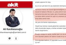 "Photo of AKP Milletvekilinden Akit Gazetesine: ""Paçavra"""