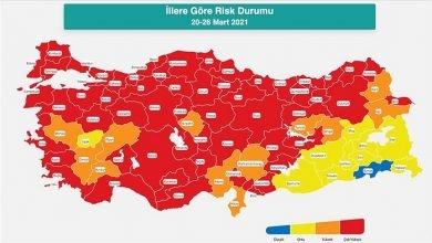 Photo of 29 Mart Türkiye risk haritası